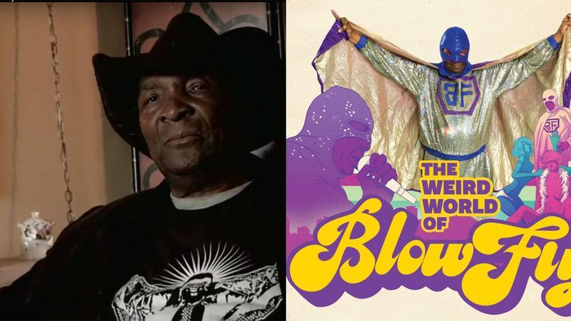 Clarence Reid, le «Maître de la Classe» s'est éteint ce dimanche 17 janvier en Floride, après un long combat contre le cancer. Le personnage de Blowfly se caractérisait surtout par son costume de super-héros à paillettes. ©capture d'écran