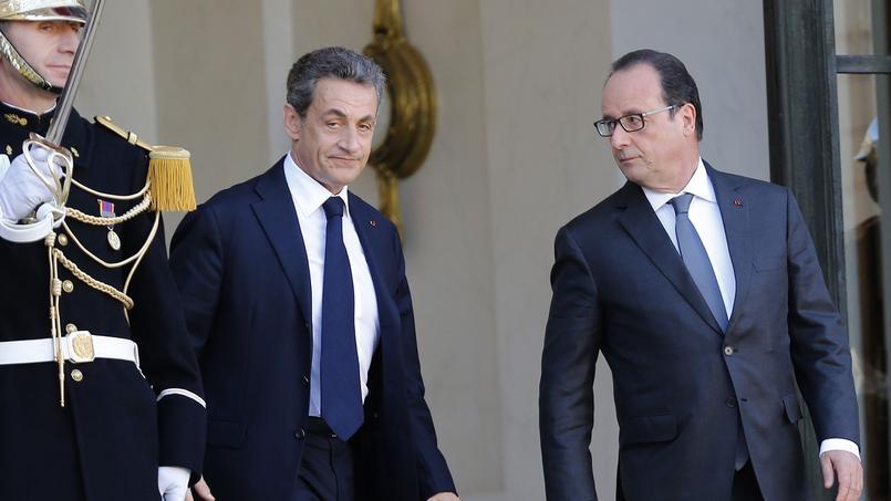 Nicolas Sarkozy et François, le 15 novembre 2015, à l'Élysée.