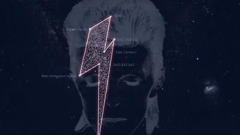 L'homme aux mille visages, David Bowie, porte désormais le nom de sept étoiles dans l'univers. ©Capture d'écran