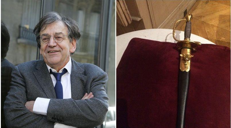 Alain Finkielkraut a reçu son épée d'académicien lundi 18 janvier au Centre National du Livre.