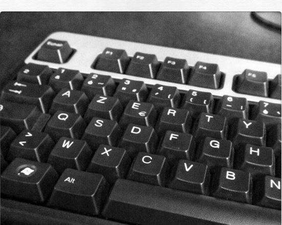 Un clavier AZERTY (Flickr sous licence creative commons).