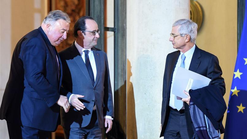 Gérard Larcher et Claude Bartolone ont été reçus par François Hollande, mercredi 20 janvier 2015, pour évoquer la prolongation «probable» de l'état d'urgence au-delà du 26 février.
