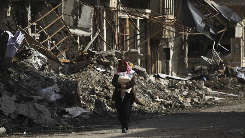 À Deir ez-Zor, la majorité des habitants vivaient essentiellement de pain et d'eau, selon une note de l'ONU.