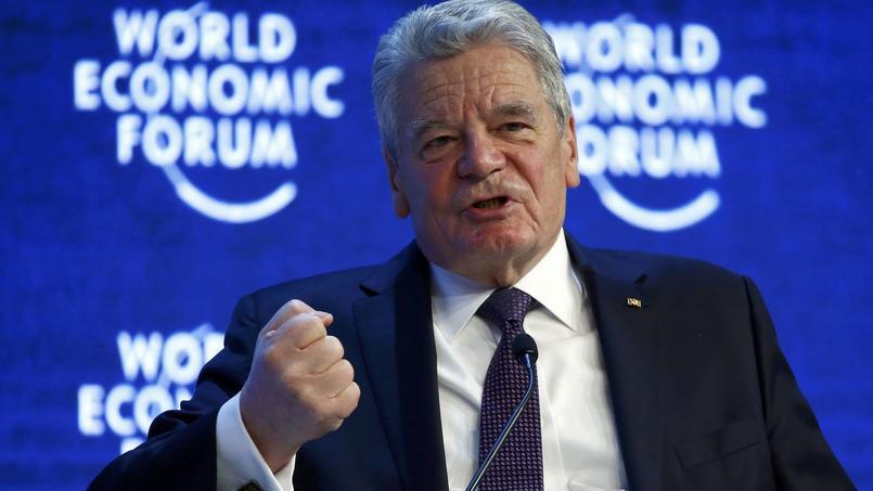 Joachim Gauck, président de l'Allemagne, au Forum de Davos.