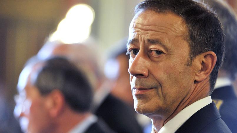 Alain Gardère pose, le 29 août 2011 à Marseille, lors d'un point presse du ministre de l'Intérieur, Claude Guéant. Il est alors préfet délégué à la sécurité.