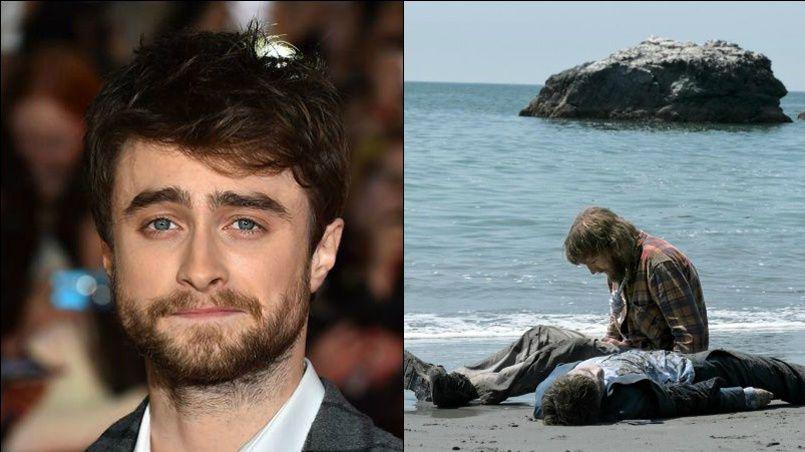 Grimé en cadavre, Daniel Radcliffe est méconnaissable.