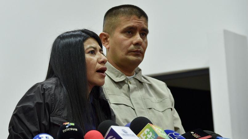 Sandra Isaza et Carlos Ochoa font partie des 16 ex guérilleros graciés par le président colombien Juan Manuel Santos et libérés mercredi.
