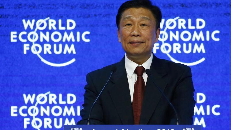 Li Yuanchao, le vice-président de la République de Chine, au Forum de Davos.