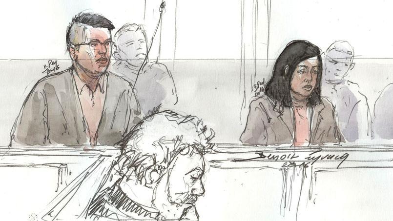 Le couple chinois Hui Zhang et Te Lu lors de leur procès.