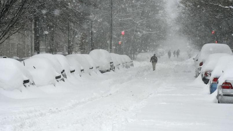 La tempête de neige remonte des Carolines.