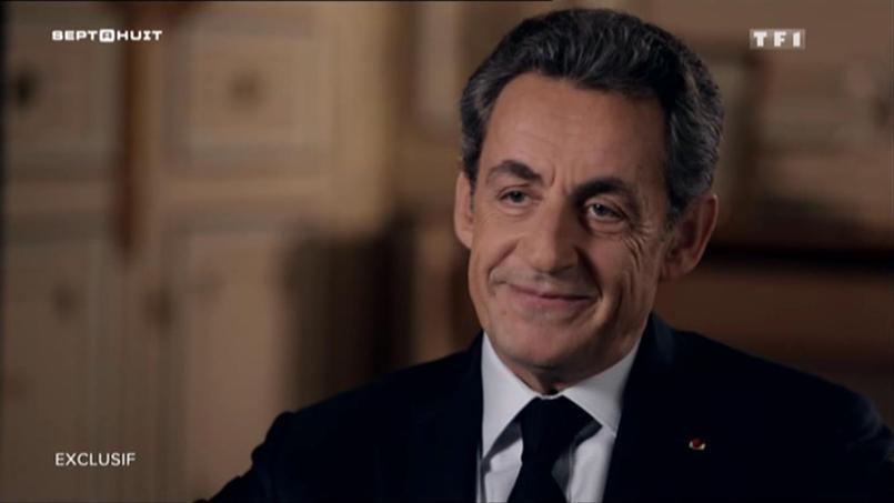Nicolas Sarkozy dans l'émission «7 à 8» sur TF1.