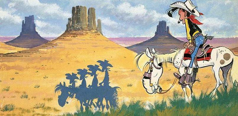 Lucky Luke fête ses 70 ans en compagnie des frères Daltons.