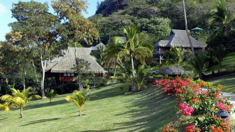 Des bungalows sur l'île de Bora-Bora.