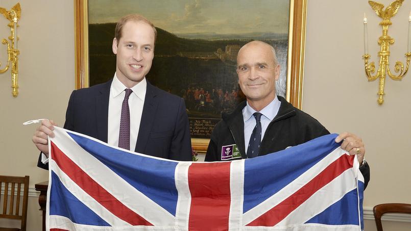 le prince William et l'aventurier Henry Worsley