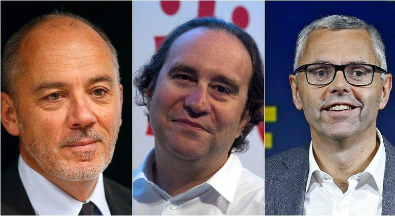 Stéphane Richard, Xavier Niel et Michel Combes.