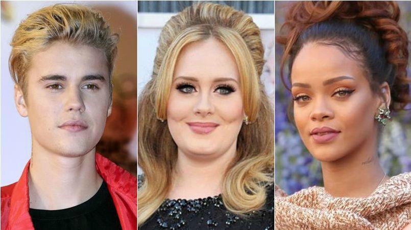 Justin Bieber, Adèle et Rihanna, les plus gros vendeurs de 2015, participeront aux Grammys 2016.