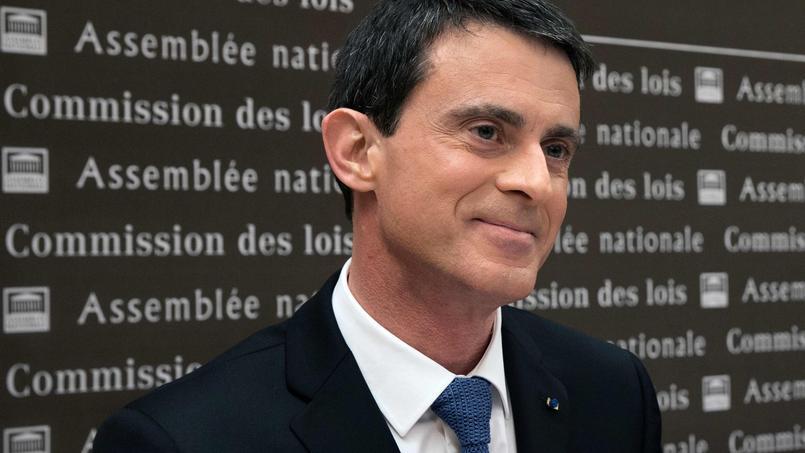 Le premier ministre Manuel Valls, le 27 janvier, devant la Commission des lois de l' Assemblée nationale.