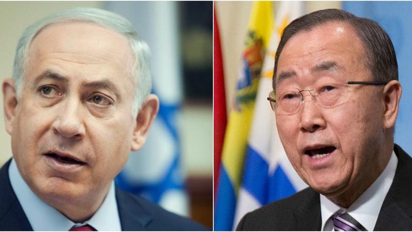 Benyamin Nétanyahou a répondu à Ban Ki-Moon qui dénoncé «un affront fait à la population palestinienne et à la communauté internationale».