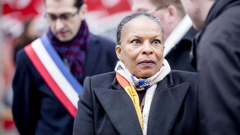 L'ancienne ministre Christiane Taubira, le 10 juillet lors d'un hommage aux attentats.