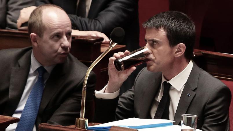 Jean-Jacques Urvoas, nouveau ministre de laJustice et Manuel Valls, premier ministre