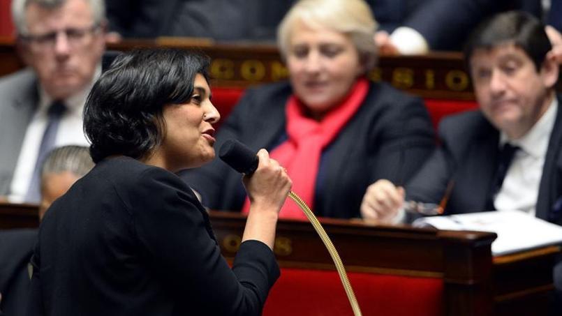 Myriam El Khomri, répondant à une question à l'Assemblée le 19 janvier. AFP PHOTO/ALAIN JOCARD.