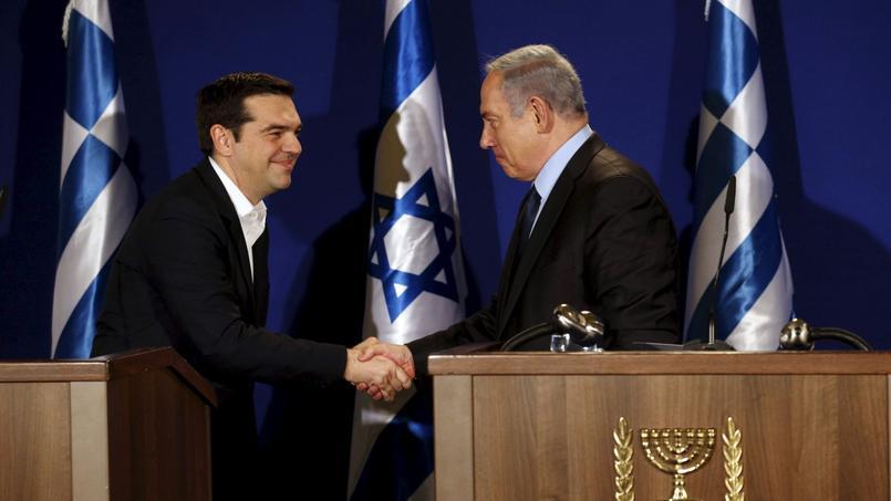Alexis Tsipras a été reçu à Jérusalem par Benyamin Nétanyahou, le 27 janvier.