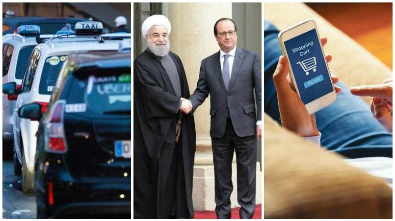 Taxis, Iran, e-commerce : le récap éco du jour