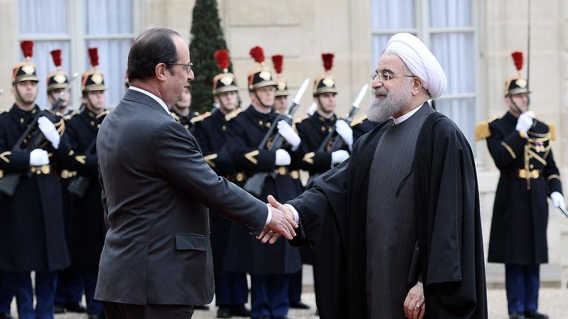 François Hollande a accueilli, jeudi à l'élysée son homologue iranien, Hassan Rouhani.