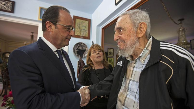 François Hollande a rencontré Fidel Castro le 11 mai 2015 à La Havane.