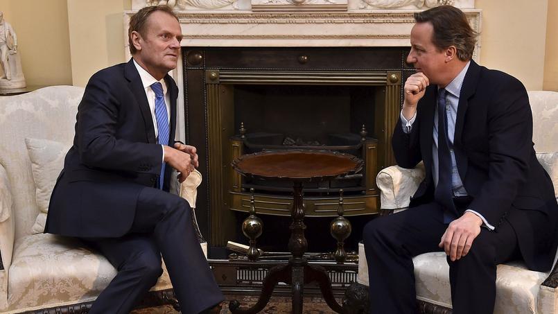 Le président du Conseil européen, Donald Tusk, a été reçu par le premier ministre britannique, David Cameron, à Downing Street.