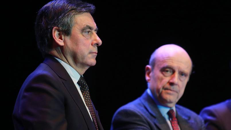 François Fillon et Alain Juppé, deux défenseurs de la dégressivité des allocations-chômage.