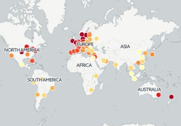 Taxis : le prix d'une course dans 71 capitales