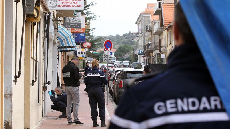 La gendarmerie enquête sur place, à Propriano, ce mercredi.