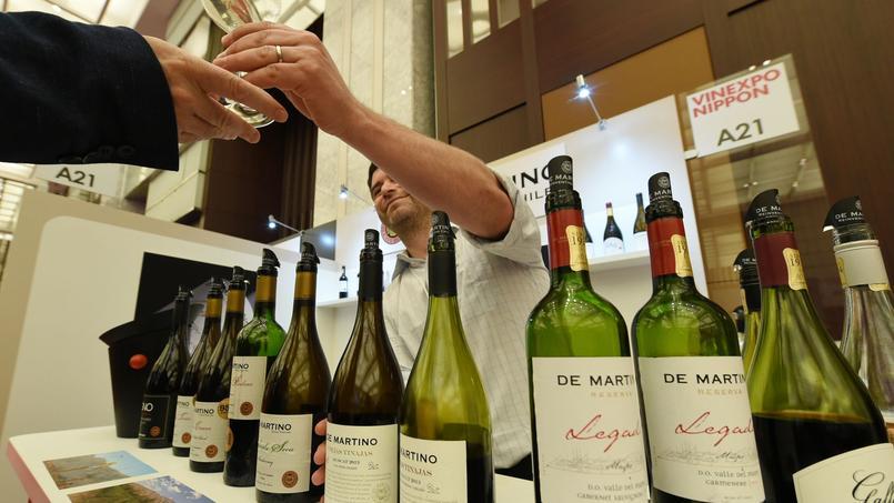 Un stand de vins chiliens lors du salon VinExpo Nippon, à Tokyo, en novembre 2014.