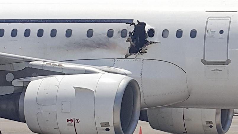 L'avion de ligne somalien abîmé en vol.