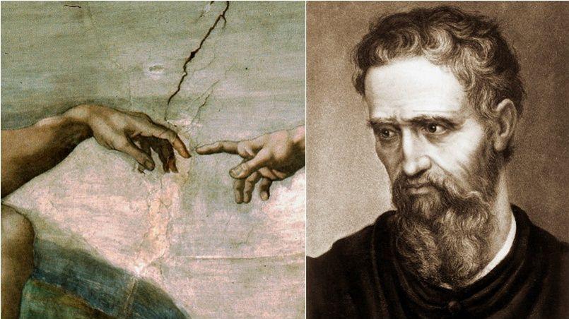 Michel-Ange a pu garder l'usage de sa main grâce à son art.