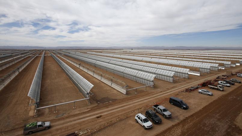 Le parc solaire de Ouarzazate sera dans sa version finale installé sur 2500 hectares.