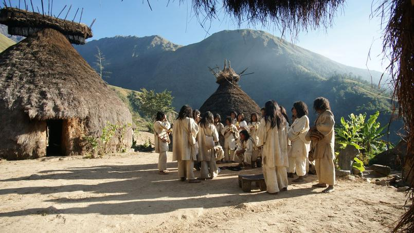 Les Kogis sont des agriculteurs des montagnes colombiennes. Ils vont bientôt récupérer un tésor volé dans les années 1970. Crédis photo: Éric Julien/DR
