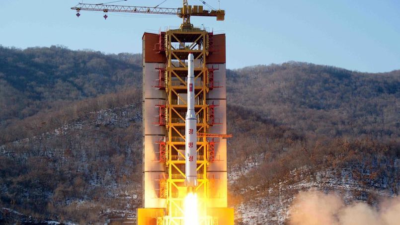 Capture d'écran du lancement par l'agence de presse officielle nord-coréenne KCNA.