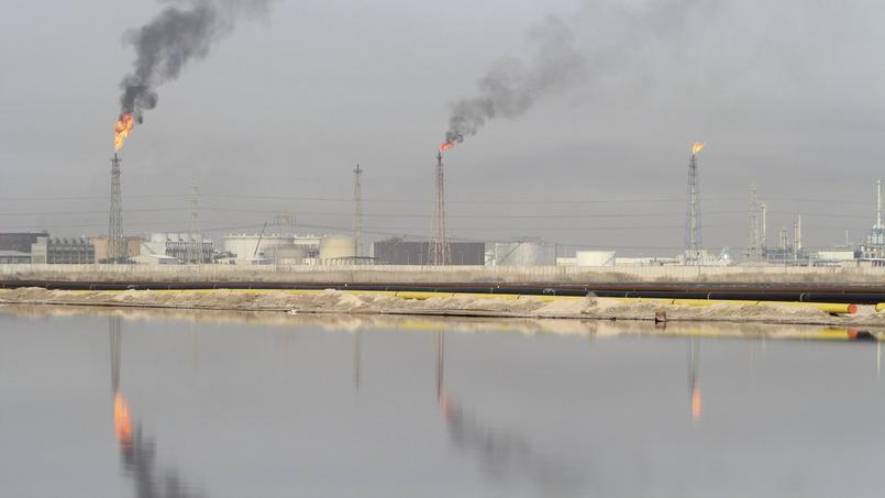La production pétrolière de l'Irak a battu un record en janvier. Ici, une raffinerie à Bassorah, dans le sud du pays.