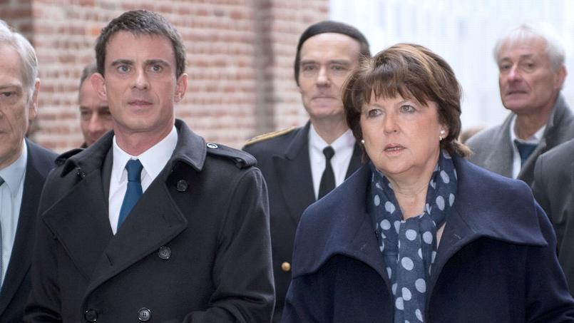 Le premier ministre Manuel Valls et la maire de Lille, en mai 2015.