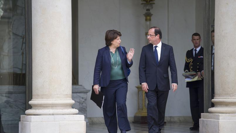 Martine Aubry et François Hollande à l'Élysée, le 6 juin 2012.