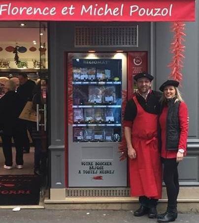 Michel et Florence Pouzol, propriétaire de la boucherie basque à Paris.