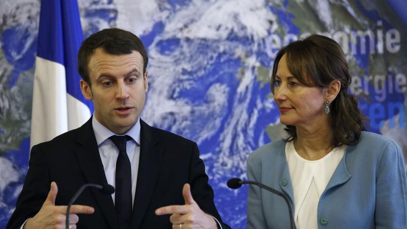 Emmanuel Macron et Ségolène Royal