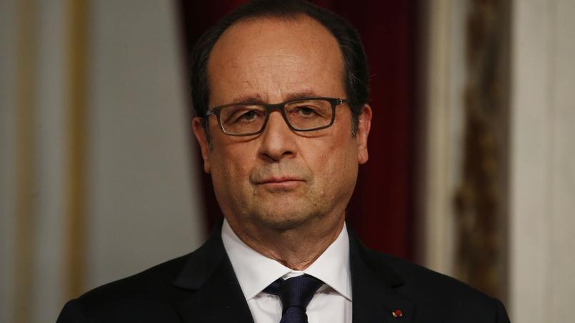 François Hollande après une conférence de presse à l'Élysée, le 29 avril 2015.