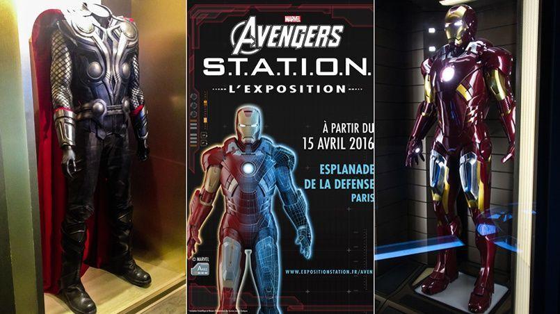 L'Exposition Marvel Avengers: S.T.A.T.I.O.N. s'installe à Paris sur l'Esplanade de La Défense le 15 avril 2016.