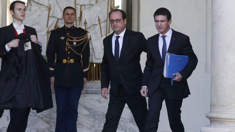François Hollande et Manuel Valls, à l'Élysée