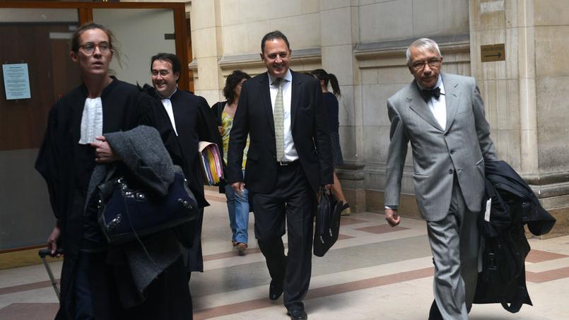 Olivier Fric au tribunal correctionnel de Paris lors d'un procès face à l'ancien directeur des mines d'Areva