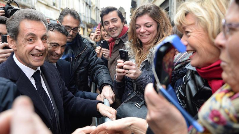 Nicolas Sarkozy le 9 février dernier à Bordeaux.