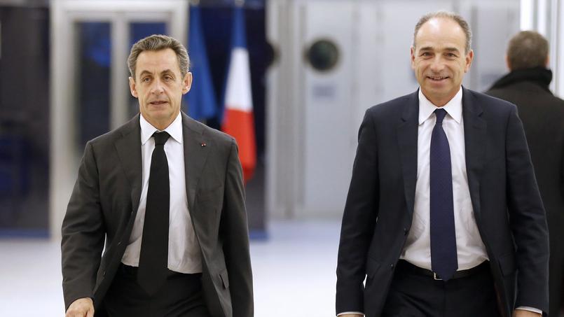Nicolas Sarkozy et Jean-François Copé au siège des Républicains.